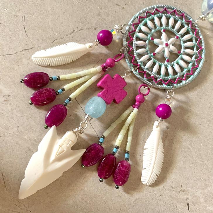 Love Warrior Dreamcatcher Necklace