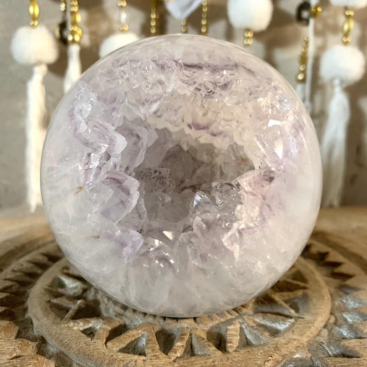 Quartz Agate Geode Sphere
