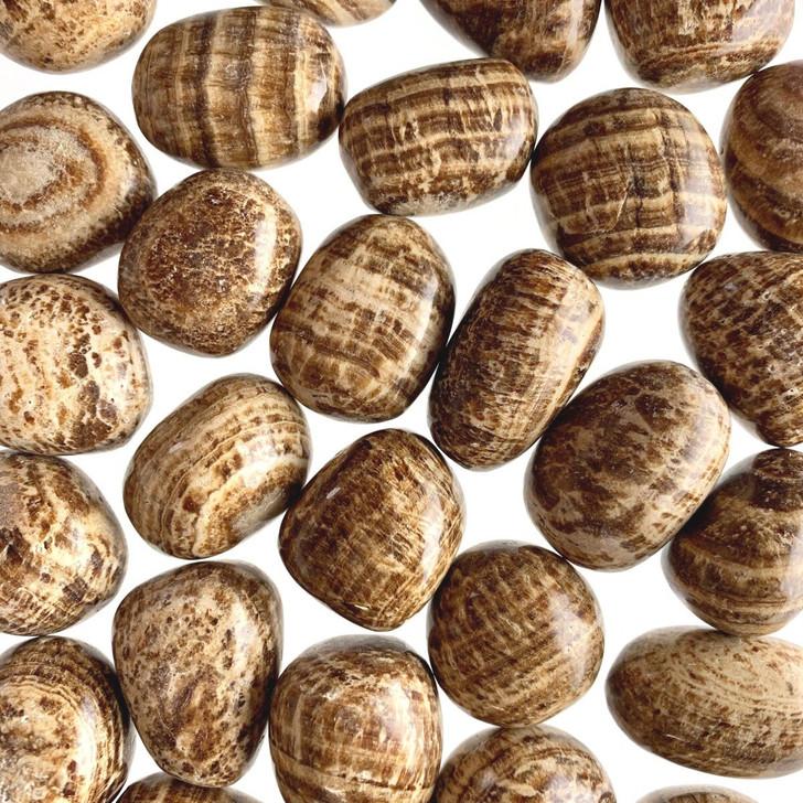 Brown Aragonite Tumbled Stones