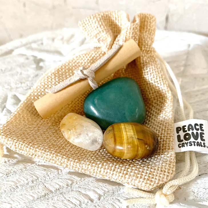 Abundance Crystal Collection Pouch