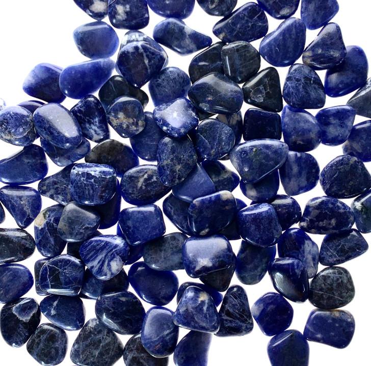 Sodalite Flat Tumbled Stones