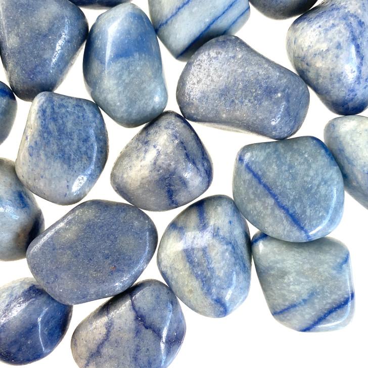 Blue Quartz Tumbled Stones