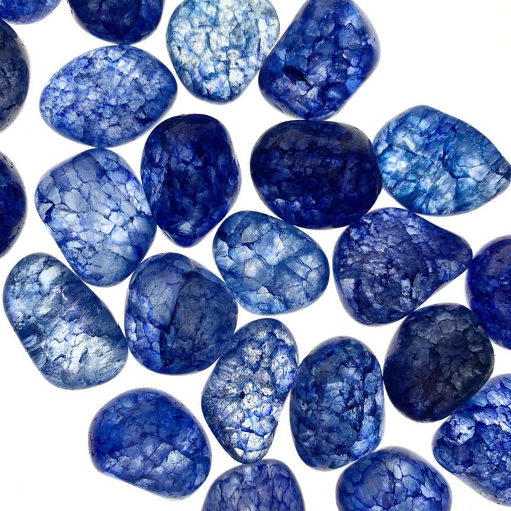 Bue Crackle Quartz Tumbled Stones