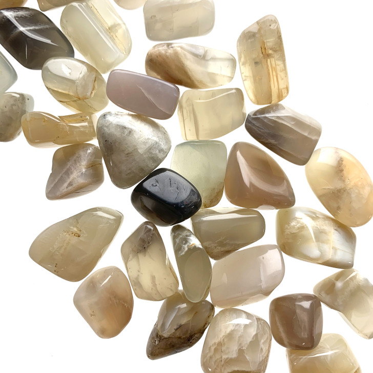 Grey Moonstone Tumbled Stones
