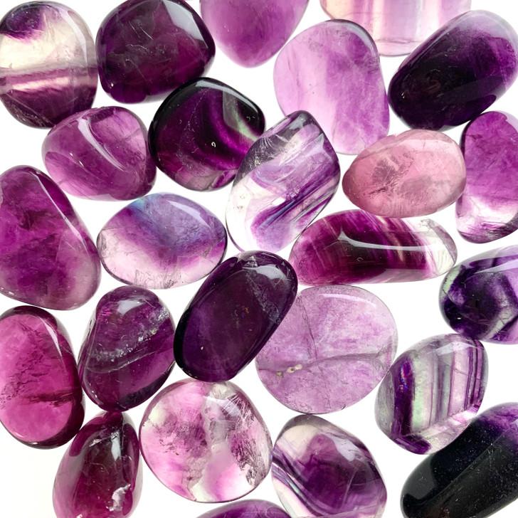 Pink Fluorite Tumbled Stones
