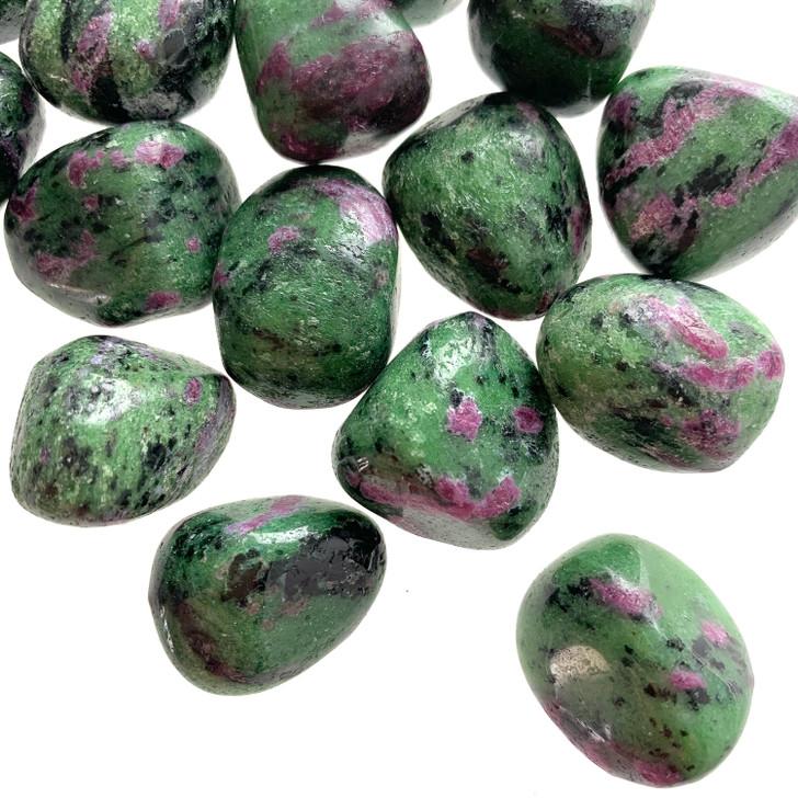 Ruby Zoisite Tumbled Stones