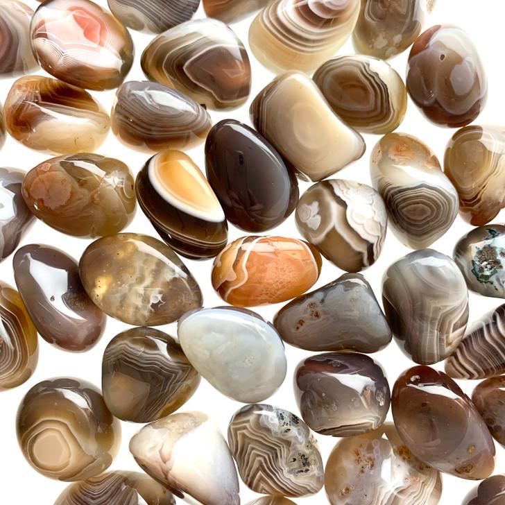 Grey Botswana Agate Tumbled Stones