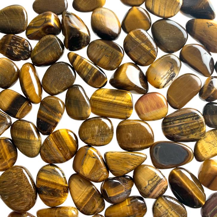 Gold Tiger Eye Tumbled Stones