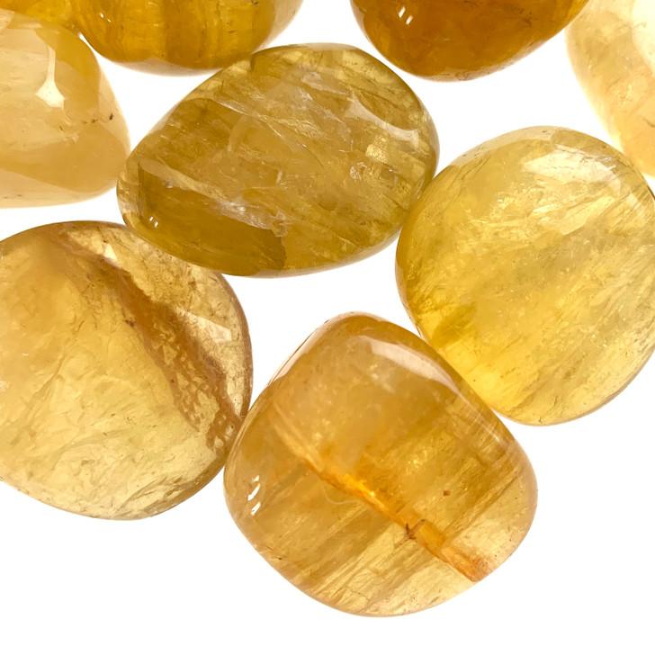Yellow Fluorite Tumbled Stones