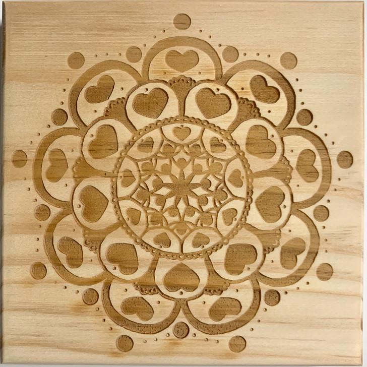 Attract Love Mandala Crystal Grid