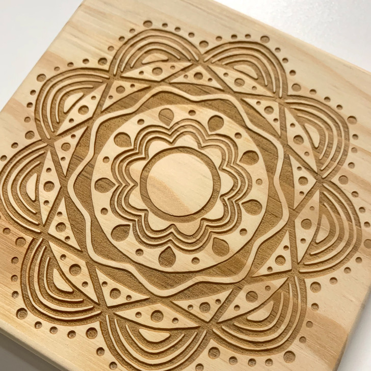 Calming Mandala Crystal Grid
