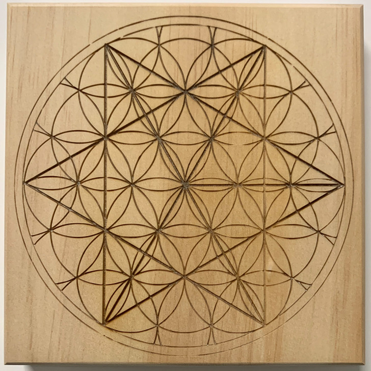 Merkaba Sacred Geometry Crystal Grid