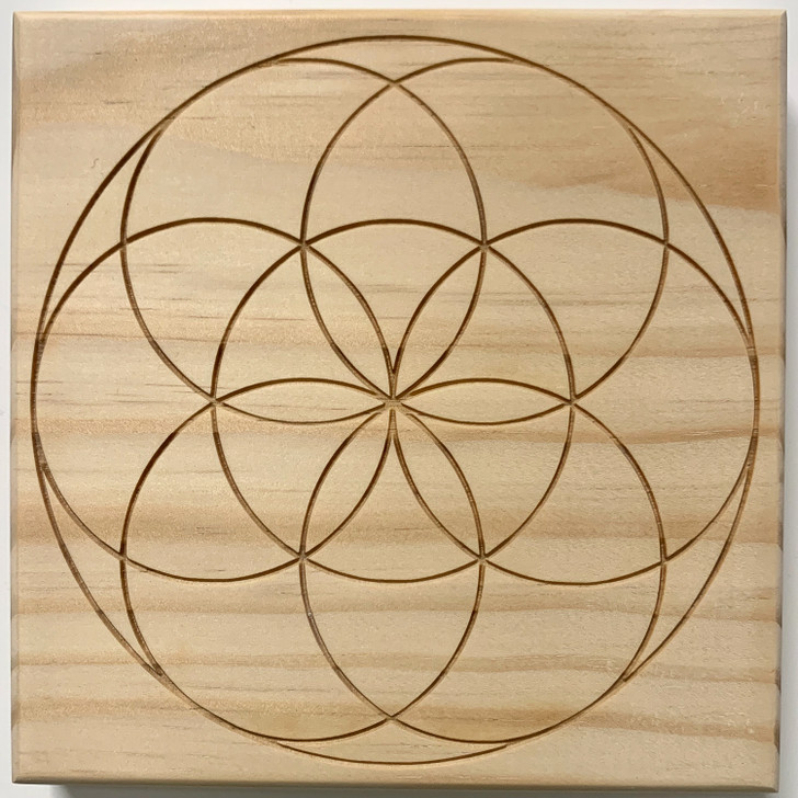 Seed of Life Bounded Sacred Geometry Crystal Grid