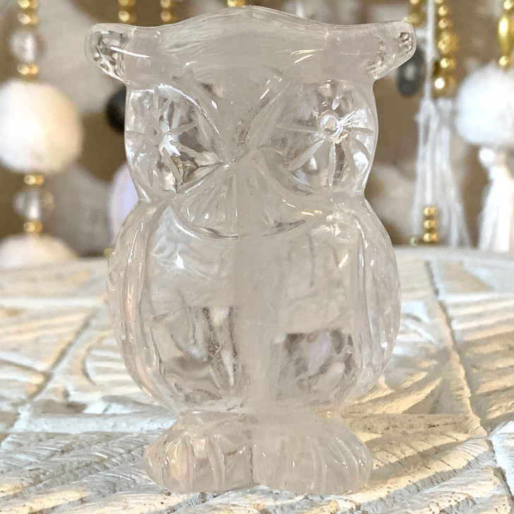 Clear Quartz Owl