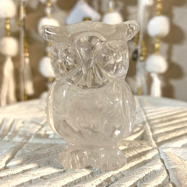 Clear Quartz Owl
