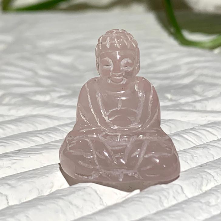 Rose Quartz Lu Li Buddha