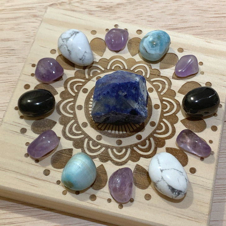 Anxiety Relief Mandala Crystal Grid Set