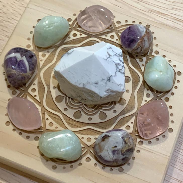 Calming Mandala Crystal Grid Set