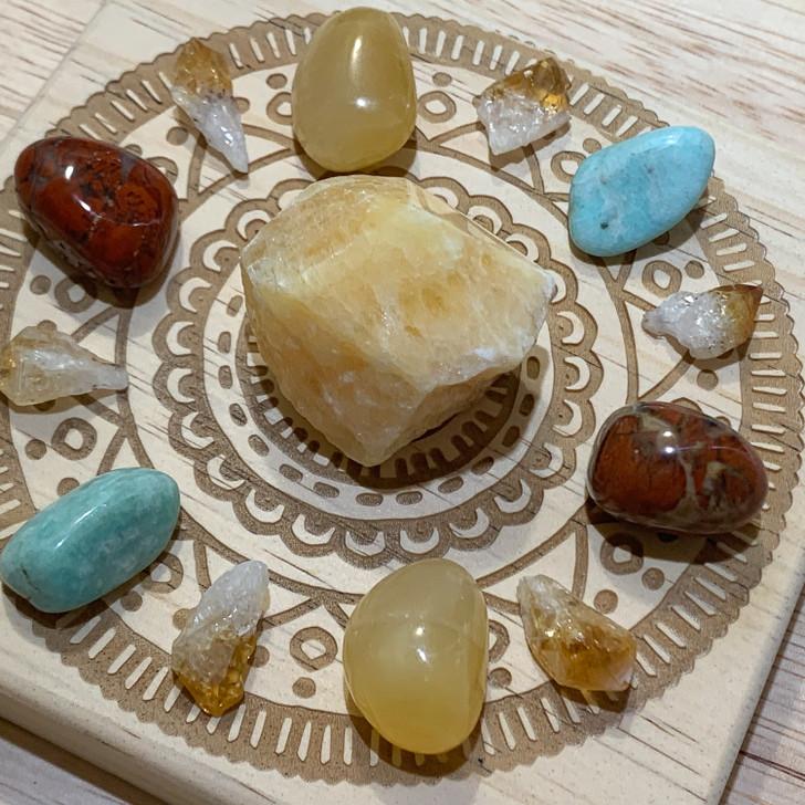 Happiness Mandala Crystal Grid Set