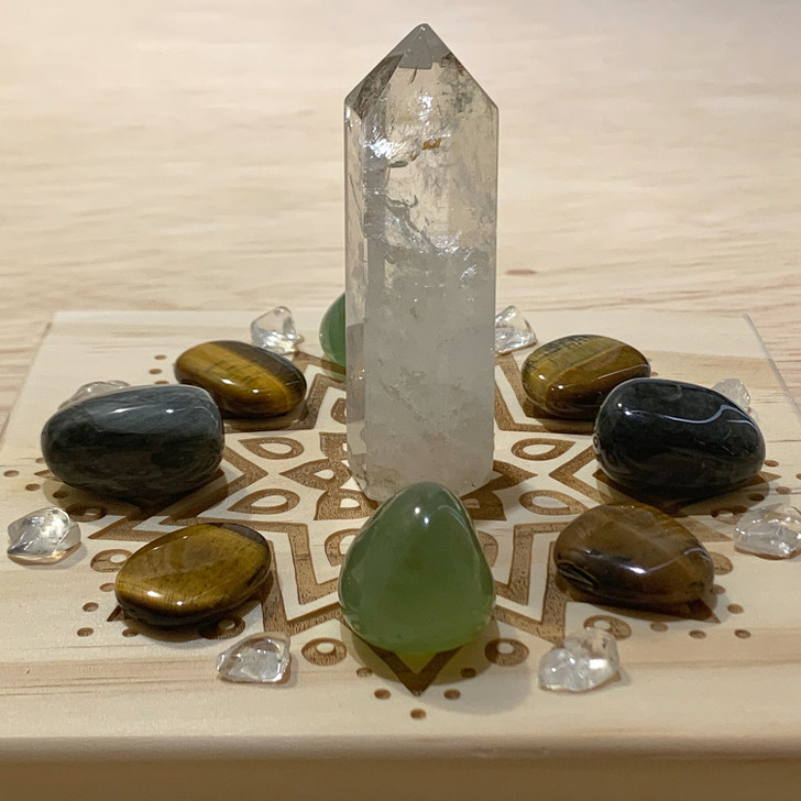 Good Luck Mandala Crystal Grid Set
