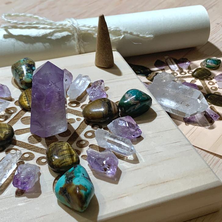Safe Travel Mandala Crystal Grid Set