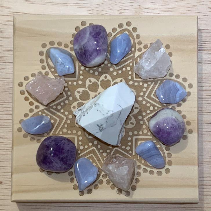 Sweet Dreams Mandala Crystal Grid Set