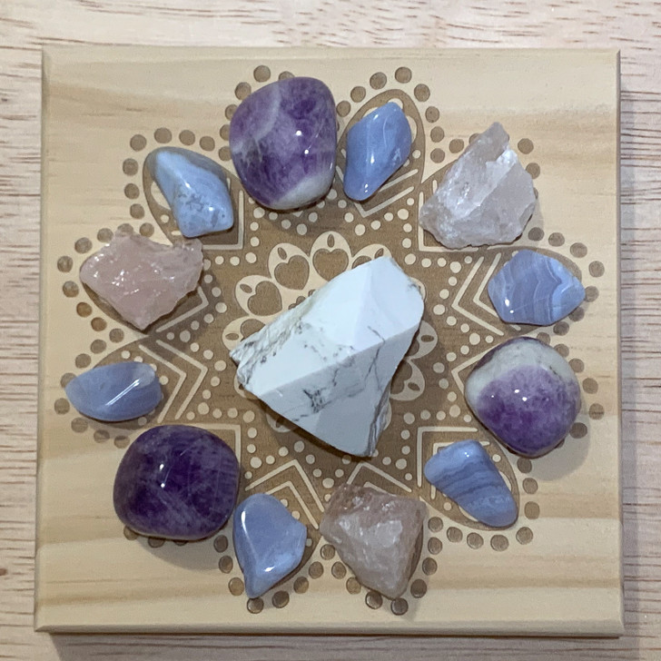 Sweet Dreams Mandala Crystal Grid Set