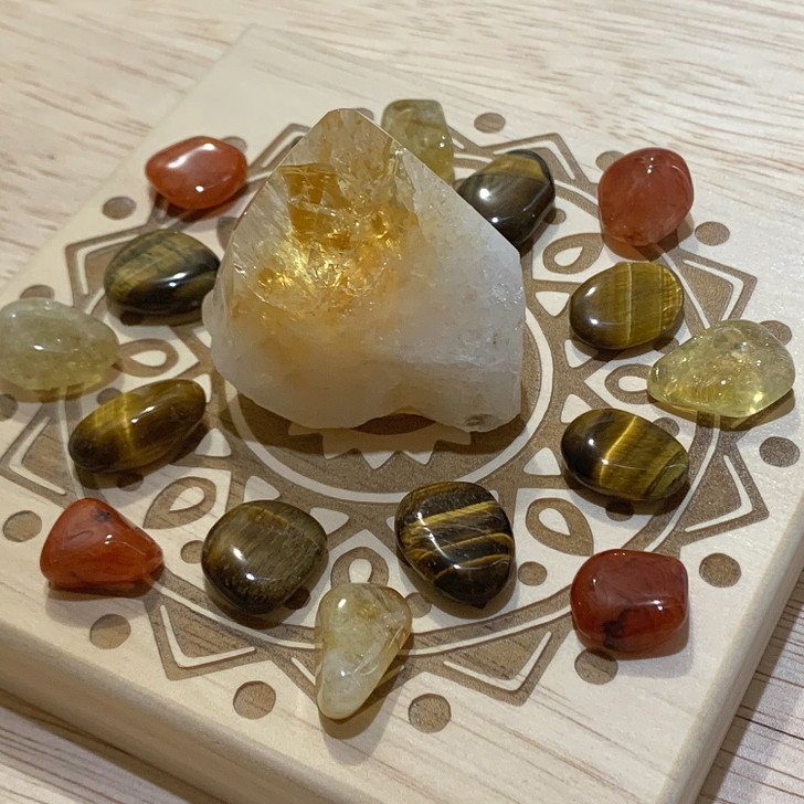 Wealth Mandala Crystal Grid Set