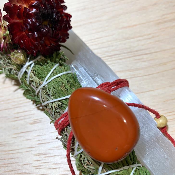 Sacred Cedar Botanical Smudge Bundle with Selenite + Quartz + Red Jasper