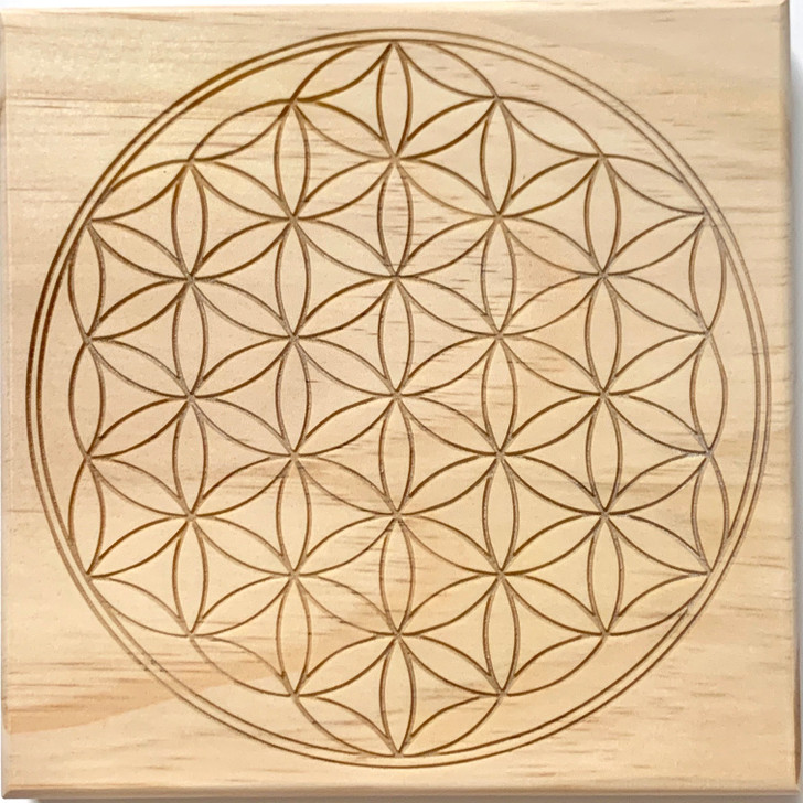 Flower of Life Bounded Sacred Geometry Crystal Grid