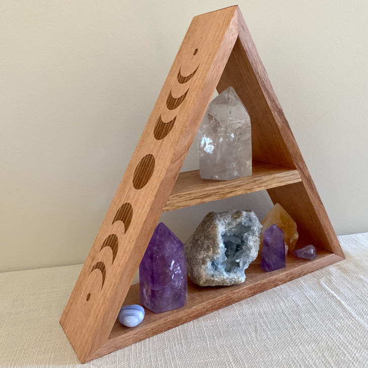 Moon Phase Triangle Shelf