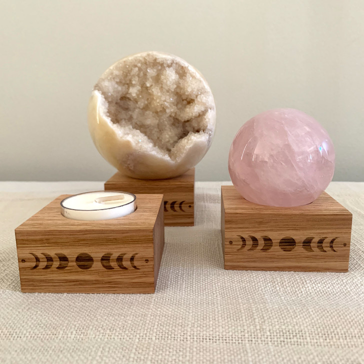 Moon Phase Sphere or Candle Stand