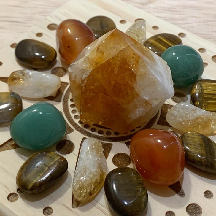 Abundance Mandala Crystal Grid Set