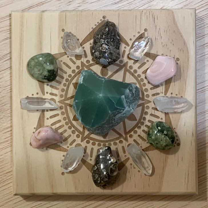 New Beginnings Mandala Crystal Grid Set