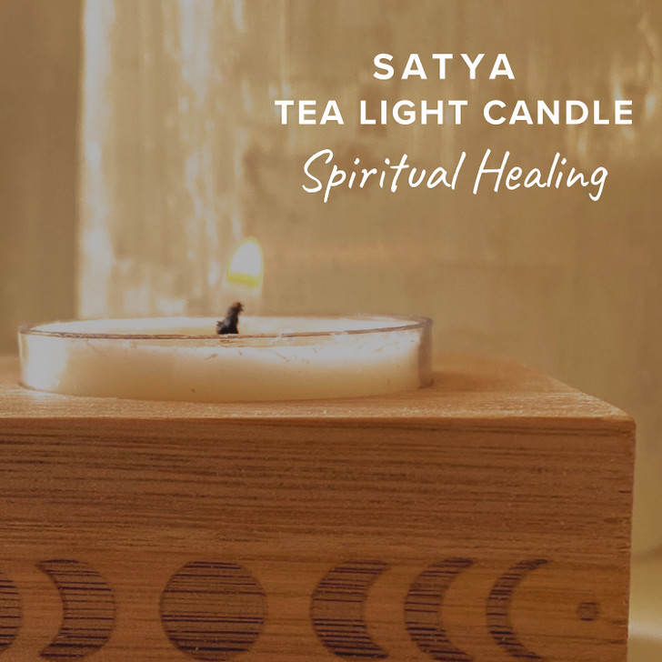 Spiritual Healing Satya Tea Light Candle