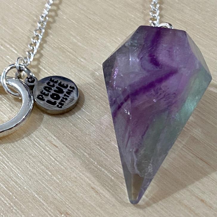 Rainbow Fluorite Pendulum