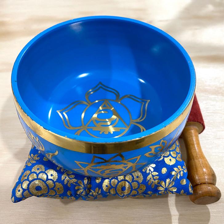 Throat Chakra Tibetan Singing Bowl 11.5cm
