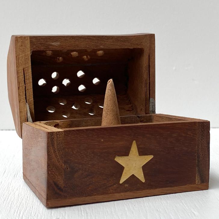 Star Incense Cone Holder Box