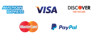 Payments Icons - American Express, VISA, Discover Network, MasterCard, PayPal
