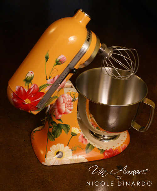 "EXCLUSIVE - The ""Original"" Pioneer Woman Edition Custom Floral KitchenAid Mixer {Artisan Series mixer Included}"