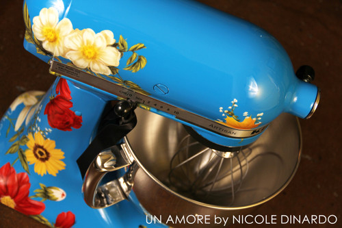 EXCLUSIVE - The Pioneer Woman {second} Edition Custom Floral KitchenAid Mixer {Artisan Series mixer Included}