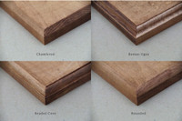 """Shaker Peg Rack Rail with Choice of Edging 18-60"""" Wide"""