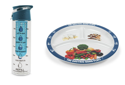 Flip Cap Blue Infuser Basic Portion Control Weight Loss Kit
