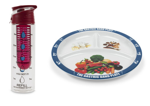 Flip Cap Red Infuser Basic Portion Control Weight Loss Kit