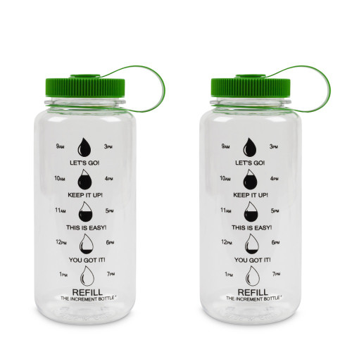 The Increment Bottle Summit Beaker 2 PACK Green