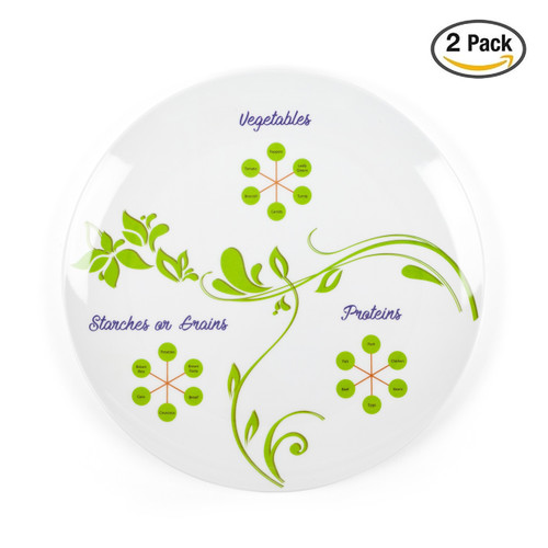 Discreet Perfect Portion Control Divided Diet Plate (2 PACK)