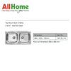Hafele 567.50.140 Built-In Kitchen Sink Double Bowl Stainless