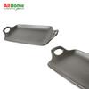 Rectangular Ceramic Dish Meal Baking Plate Dual Handle 12in Black