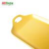 Rectangular Ceramic Dish Meal Baking  Baking  Plate Dual Handle 12in Yellow