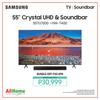 "SAMSUNG UA55TU7000 55"" 4K UHD Smart TV with FREE Samsung HWT400 Soundbar"